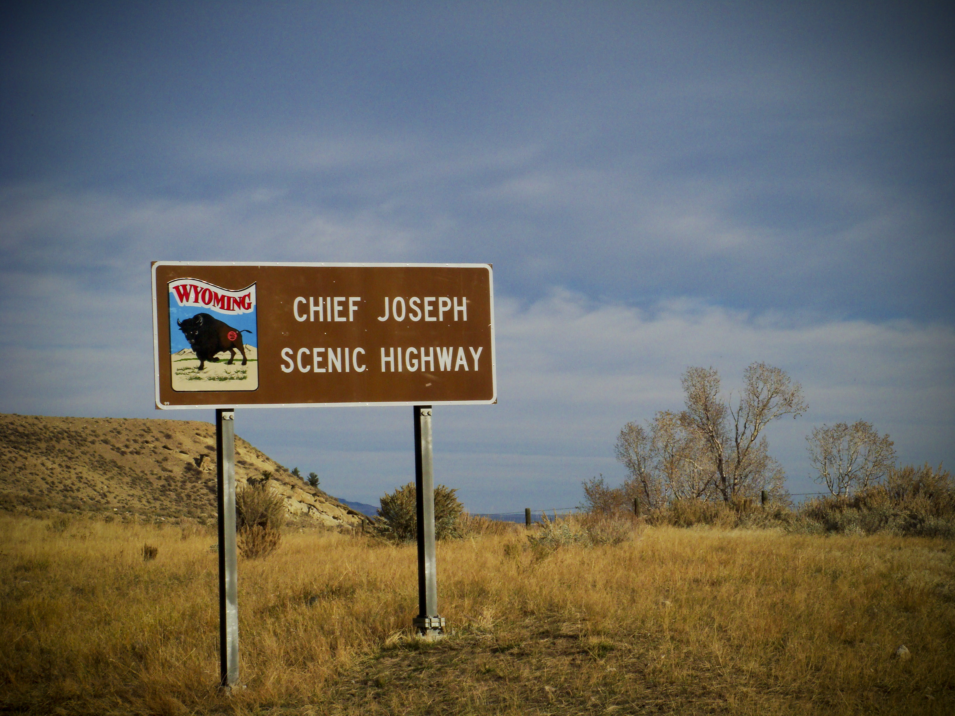 sign for Chief Joseph Scenic Highway