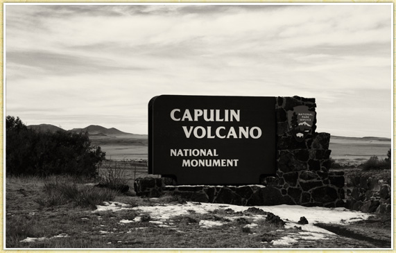 New Mexico National Monument in the Raton-Clayton volcanic field. Capulin volcano is extinct. On a clear day you can see 4 states from Crater Rim Trail's highest point -- New Mexico, Texas, Colorado, and Oklahoma.