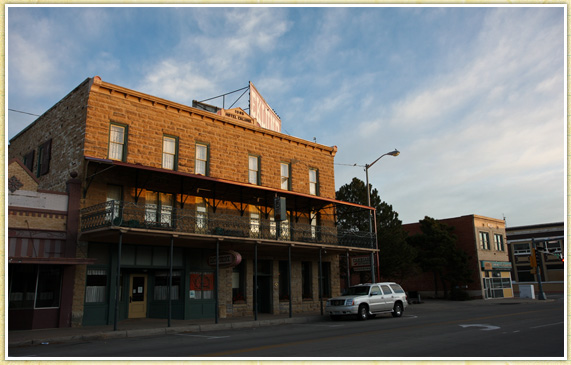 I don't always stay in roadside dumps. Here's the Eklund, Hotel in Clayton, New Mexico still proudly standing since the 1890's. The room was large, modern, and comfortable. All that for a nice price and a history lesson to boot.