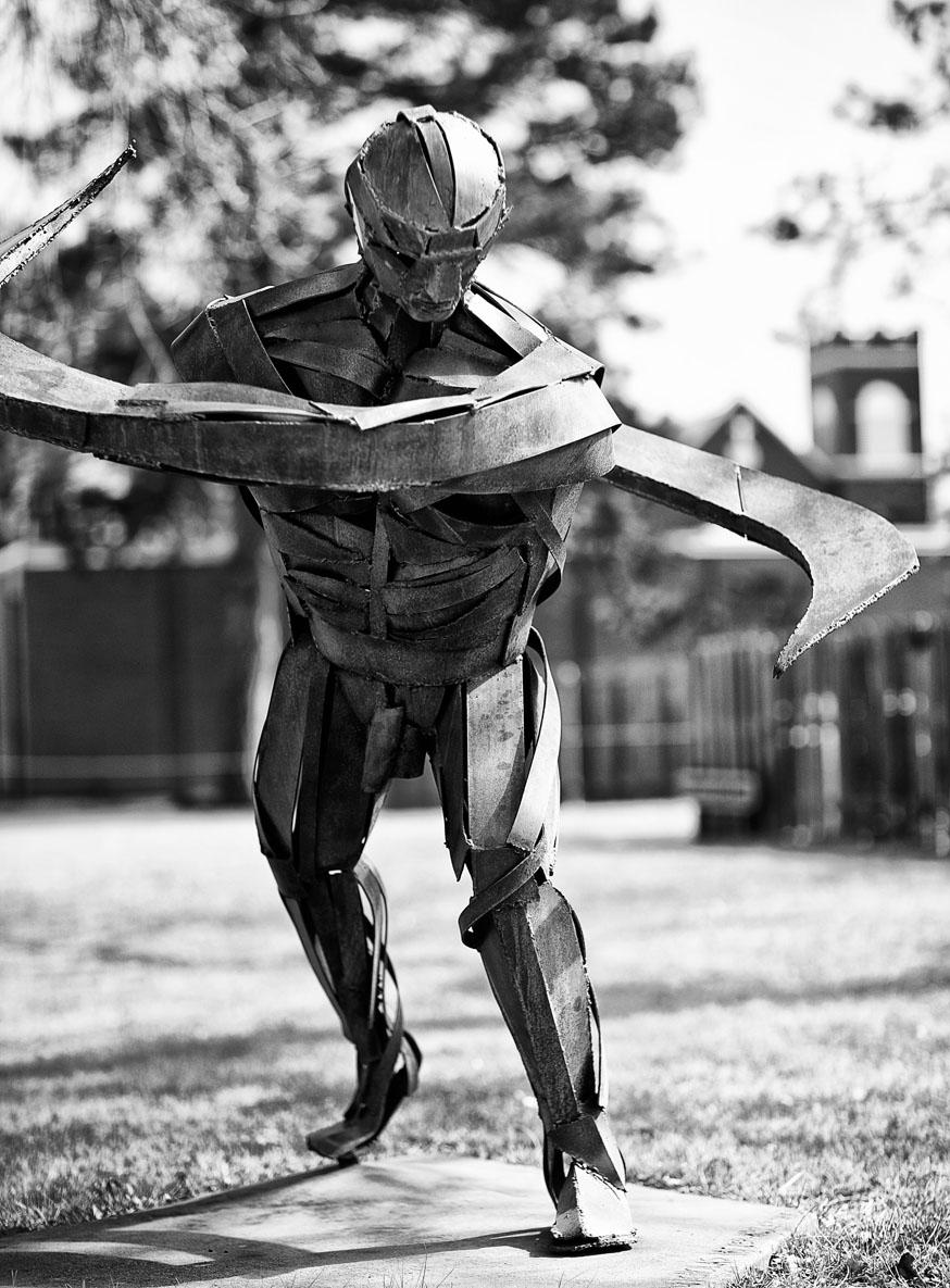 Arte con metal reciclado