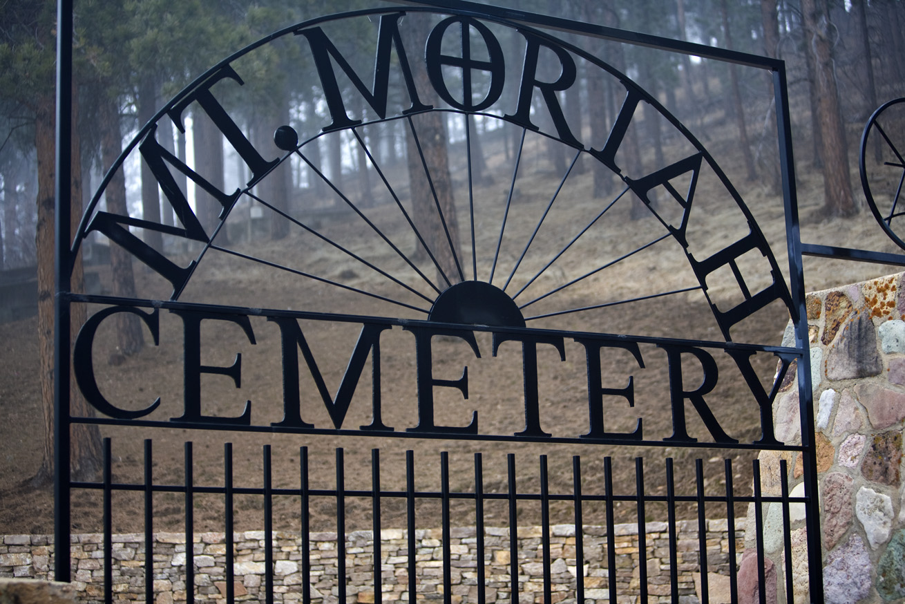 Mt. Moriah Cemetary. Deadwood, South Dakota. Final resting place for Wild Bill Hickok and Calamity Jane.