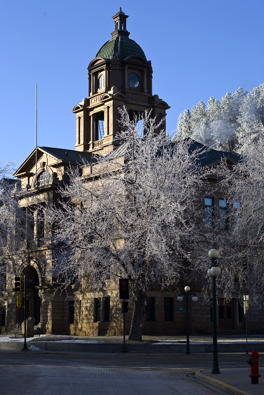 Deadwood Courthouse on a March Morning