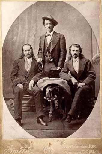 Wild Bill Hickok, Texas Jack, and Buffalo Bill Cody