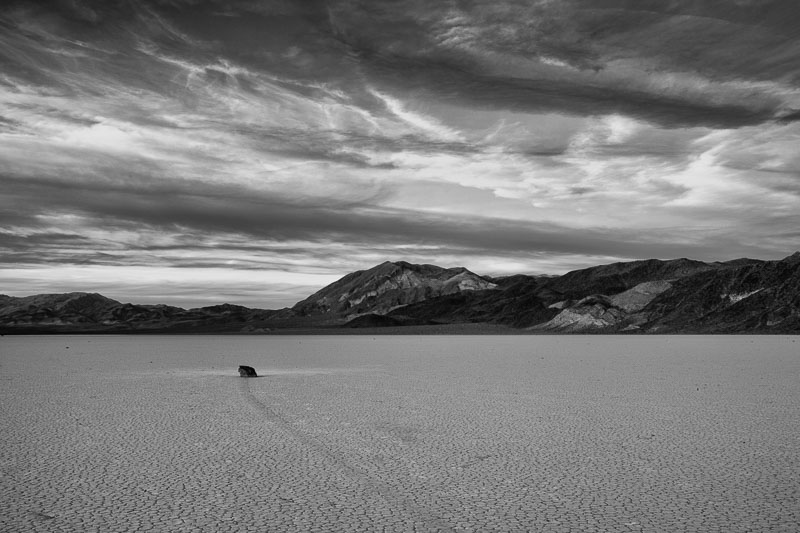 Sailing Stone of Racetrack Playa in Death Valley