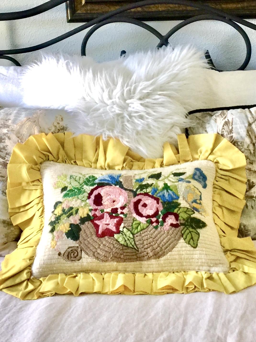Mom's crewel pillow