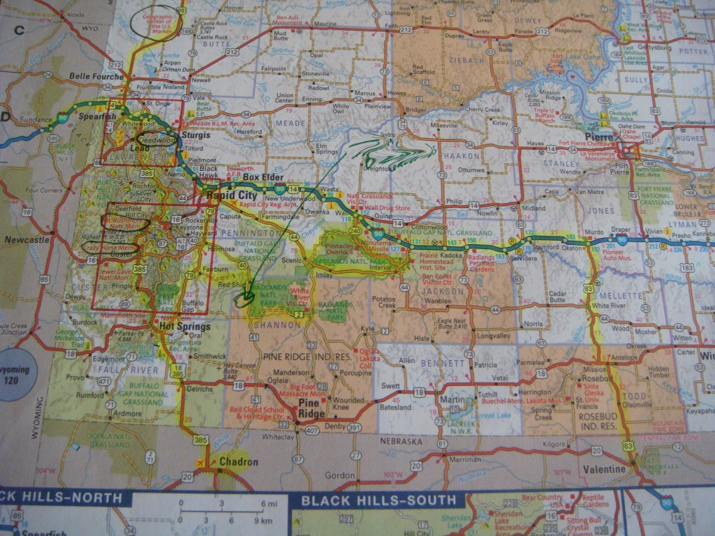 map of Black Hills South Dakota