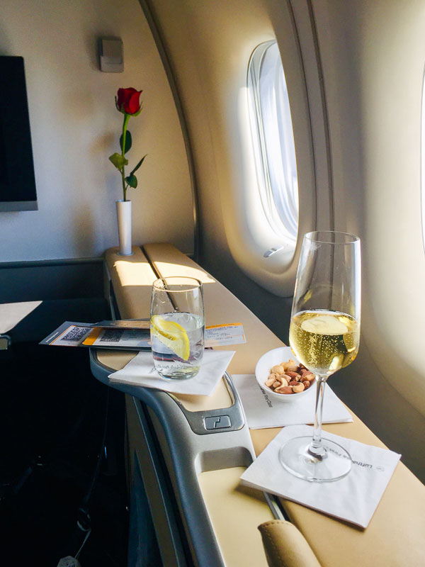 First class rose and early refreshments
