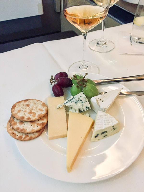 Lufthansa's first class cheese course