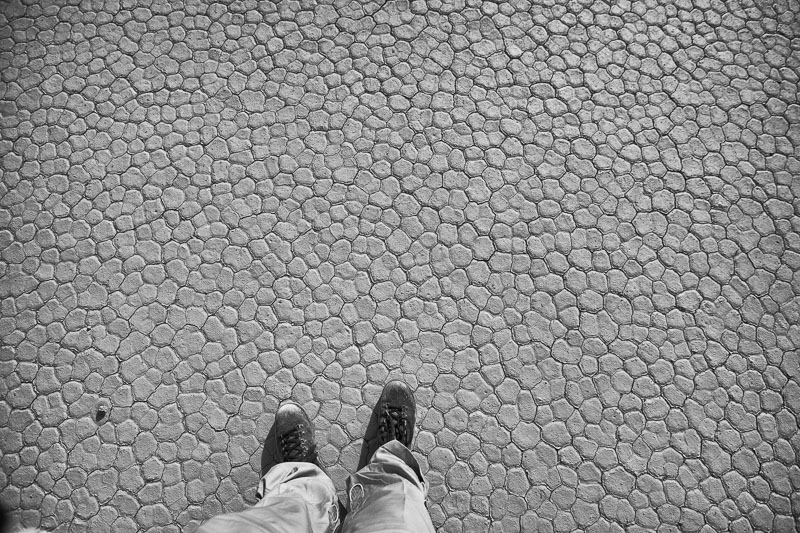 the hexagons of packed earth on the floor of Death Valley